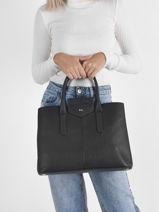 Leather Les Marquises Top-handle Bag Nathan baume Black les marquises 4L-vue-porte