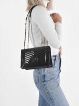 Lida Crossbody Bag Guess Black lida TG812721-vue-porte