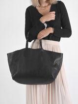 Leather D-light Shoulder Bag Gerard darel Black d light DRS24440-vue-porte
