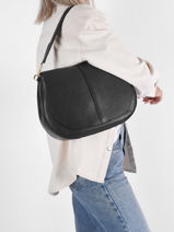 Leather Helena Round Shoulder Bag Gianni chiarini Beige helena round BS6037G-vue-porte