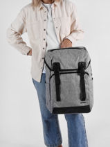 Backpack David jones Blue street PC037-vue-porte
