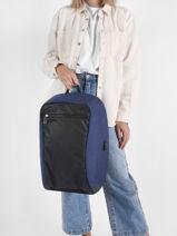 Backpack David jones Blue street PC033-vue-porte