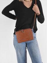 Crossbody Bag Dundy Miniprix Brown dundy X8032-vue-porte