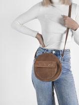 Suede Leather Dorine Crossbody Bag Nathan baume Brown nathan 32PS-vue-porte