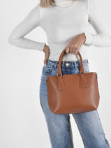 Leather Courtney Top-handle Bag Nathan baume Brown event 4-vue-porte