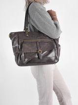Shoulder Bag A4 Alma Leather Miniprix Gray alma MD8631-vue-porte