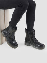 Bottines in leather-MUSTANG-vue-porte