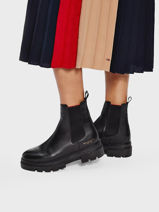 Chelsea boots monochromatic in leather-TOMMY HILFIGER-vue-porte