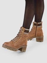 Leather boots with heel-TAMARIS-vue-porte