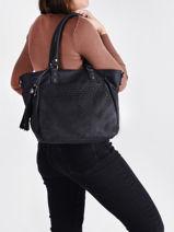 Snake Shoulder Bag Miniprix Black snake 6421-vue-porte
