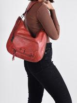 Shoulder Bag Agnes Miniprix Red agnes MD8232-vue-porte
