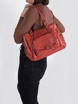 Agnes Shoulder Bag Miniprix Red agnes MD9072-vue-porte