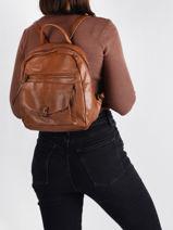 Agnes Backpack Miniprix Brown agnes MD9070-vue-porte
