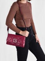 Shoulder Bag Brightside Guess Violet brightside QM758019-vue-porte