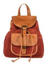 Leather Baroudeur Pampa Backpack Paul marius Red pampa BAROUPAM