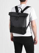 Backpack Light 2 Compartments Etrier Gray light ELIG8102-vue-porte