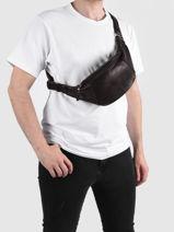Leather Flandres Belt Bag Etrier Brown flandres EFLA734M-vue-porte