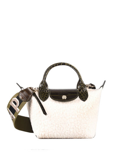 Longchamp Le pliage poudreuse Handbag White