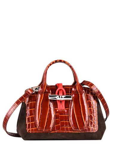 Longchamp Roseau frame Sacs porté main Marron