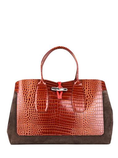 Longchamp Roseau frame Handbag Brown