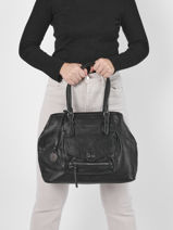 Shoulder Bag A4 Agnes Miniprix Black agnes MD9071-vue-porte