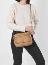 Shoulder Bag Gerta Leather Pieces Brown gerta 17111472-vue-porte