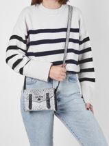 Crossbody Bag Empreinte Leather Paul marius Silver empreinte MINIEMP-vue-porte