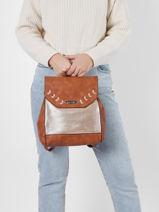 Gimel Backpack Les tropeziennes Brown gimel GIM03-vue-porte