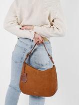 Leather Soul Sam Shoulder Bag Burkely Brown soul sam 69-vue-porte