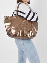 Shoulder Bag Vintage Leather Paul marius Yellow vintage PARTENAI-vue-porte