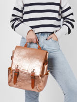 Backpack Paul marius Gold vintage AUDACIEU-vue-porte