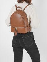 Backpack Michael kors Brown rhea zip S5GEZB1L-vue-porte