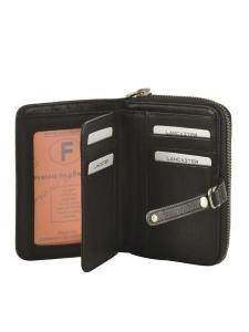 Portefeuille Cuir Lancaster Noir soft vintage nova 120-60-vue-porte