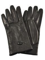Gants Omega Noir soie M30 Paire de gants en véritable cuir d