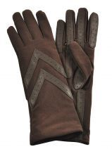 Gloves Isotoner Brown gant 68268