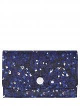 Longchamp Le pliage fleurs Porte-monnaie Bleu