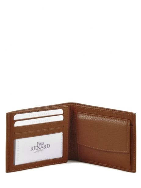 Wallet Leather Yves renard Brown 2307 other view 3