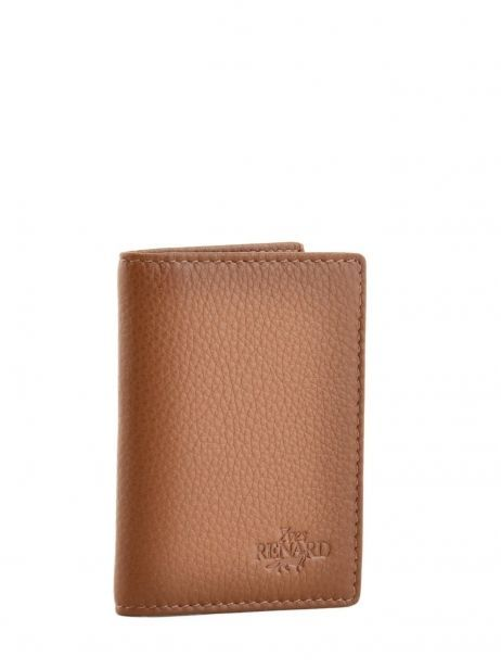 Card Holder Leather Yves renard Brown 234
