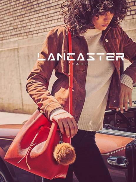 Sac Bandoulière Pur Saffiano Cuir Lancaster Rose pur saffiano 422-18 vue secondaire 3