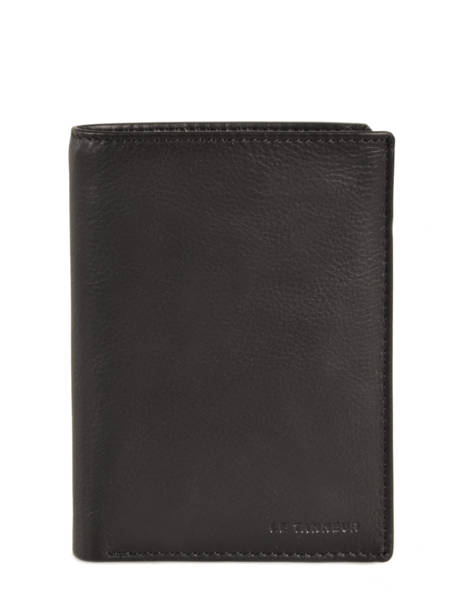 Wallet Leather Le tanneur Black gary TRA3312