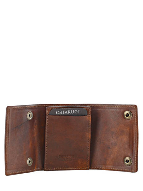 Wallet Leather Chiarugi Brown street 51098 other view 2