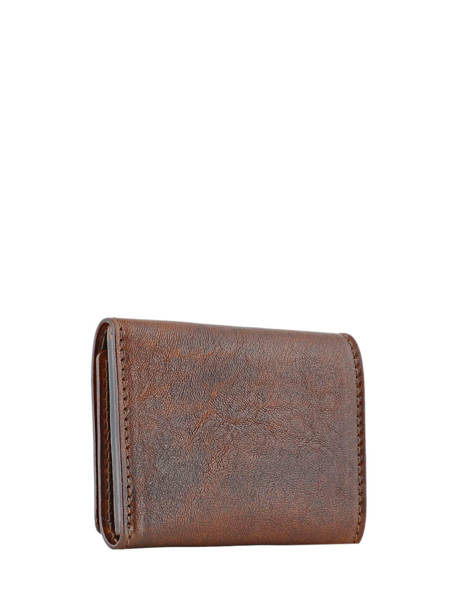 Wallet Leather Chiarugi Brown street 51098 other view 1