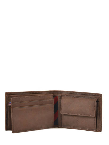 Wallet Leather Tommy hilfiger Brown johnson AM00662 other view 1