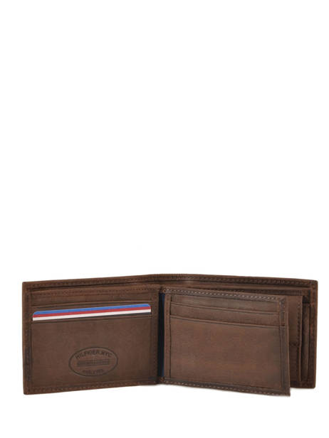 Wallet Leather Tommy hilfiger Brown johnson AM00662 other view 2
