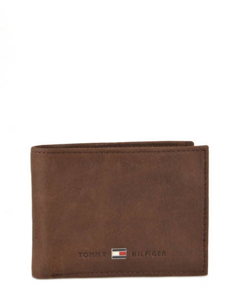 Wallet Leather Tommy hilfiger Brown johnson AM00662