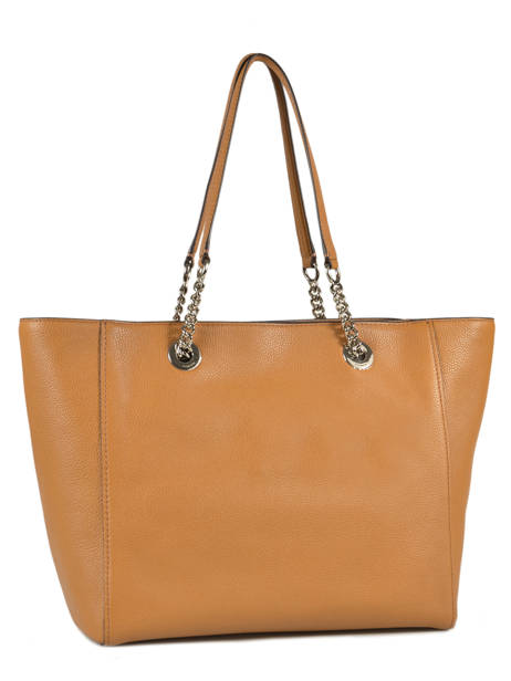 Cabas Turnlock Chain Tote Cuir Coach Marron tote 56830 vue secondaire 3