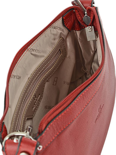 Shoulder Bag Confort Leather Hexagona Red confort 462348 other view 3