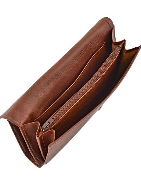 Continental Wallet Leather Etrier Brown blanco 600903 other view 3