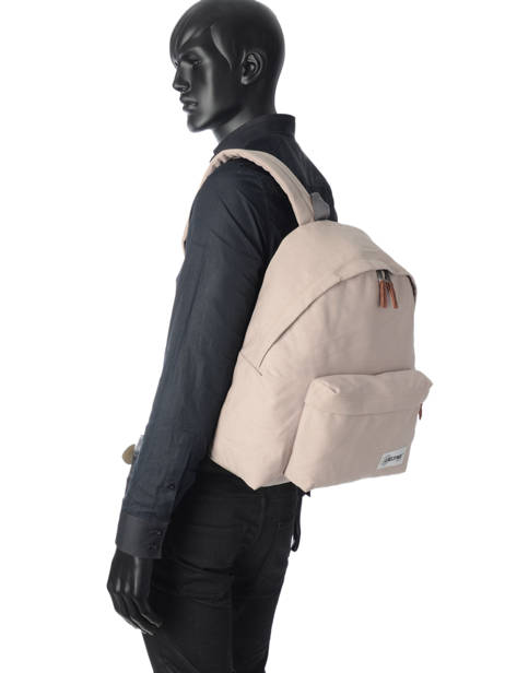 Backpack 1 Compartment A4 Eastpak Beige pbg authentic PBGK620 other view 2