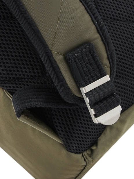 Backpack 1 Compartment Schott Green army 18-62707 other view 2